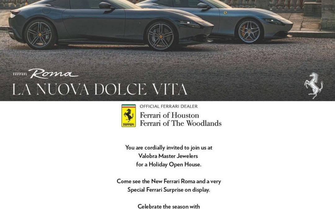 Ferrari Holiday Open House at Valobra