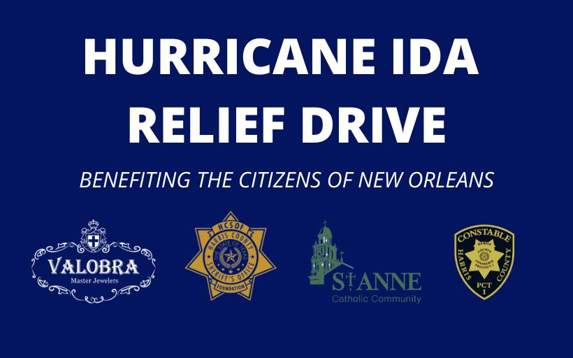 Hurricane Ida Relief Drive – Now Through Sept 15th